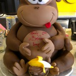3D-sculpture-birthday-cake-monkey-banana