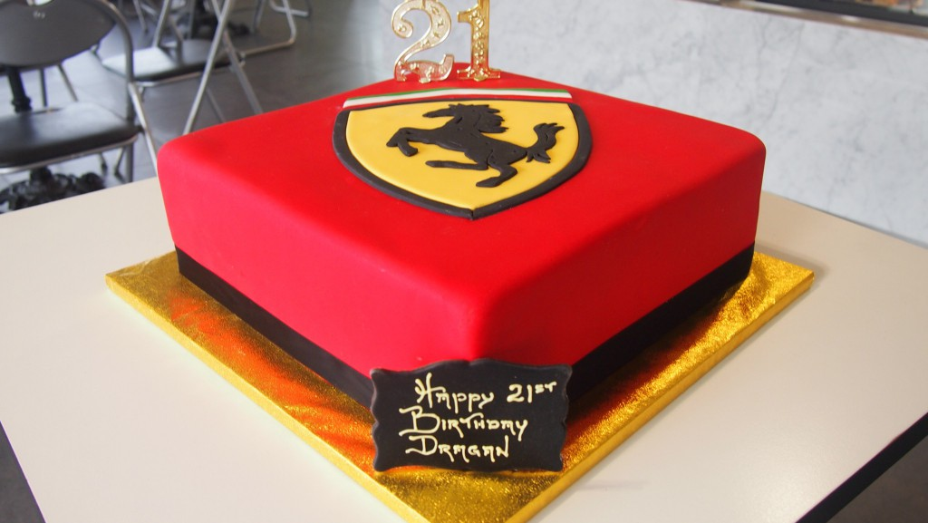 One Tier Square Birthday Cake Red Ferrari The Delicious Biscuit