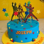 single-tier-round-birthday-cake-boy-power-rangers