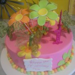 single-tier-round-birthday-cake-girl-flowers-pink