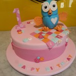 single-tier-round-birthday-cake-girl-hoot