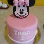 single-tier-round-birthday-cake-girl-minnie-mouse
