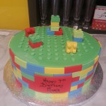 single-tier-round-birthday-cake-lego-pattern-blocks