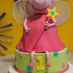 single-tier-round-birthday-cake-peppa-pig