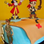 single-tier-round-birthday-cake-pirate-neverland