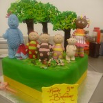 single-tier-square-birthday-cake-in-the-night-garden-characters-trees