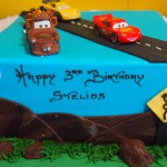 single-tier-square-birthday-cake-road-cars