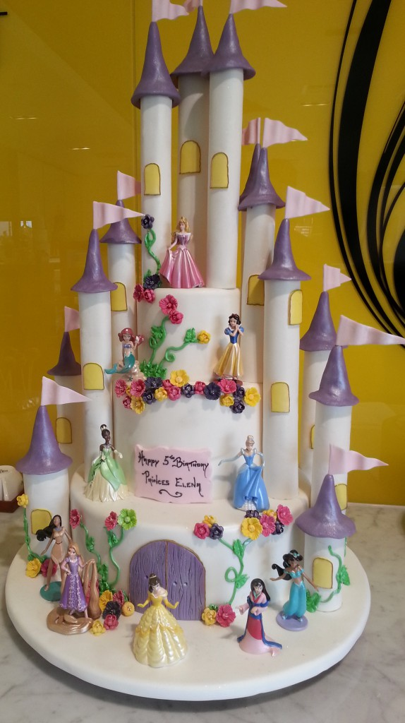 Three Tier Round Birthday Cake Castle Dinsey Princess The