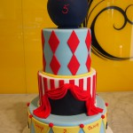 three-tier-round-birthday-cake-circus