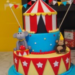 three-tier-round-birthday-cake-circus-tent-monkey-elephant