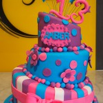 three-tier-round-birthday-cake-lob-sided-pink-purple-blue