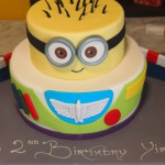 two-tier-round-birthday-cake-buzz-lightyear-despicable-me-minion