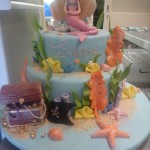 two-tier-round-birthday-cake-girl-mermaid-treasure-chest