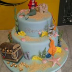 two-tier-round-birthday-cake-girl-mermaid-treasure-chest-ariel