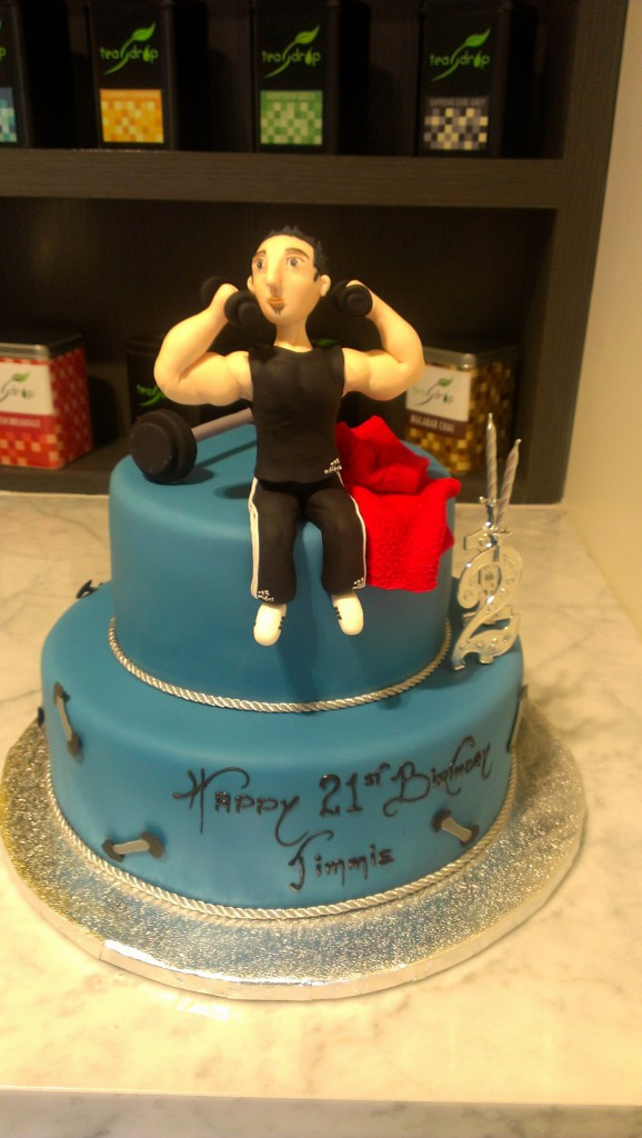 Two Tier Round Birthday Cake Gym Training Weights The Delicious