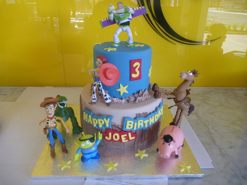 Two Tier Round Birthday Cake Toy Story Buzz Lightyear Woody The