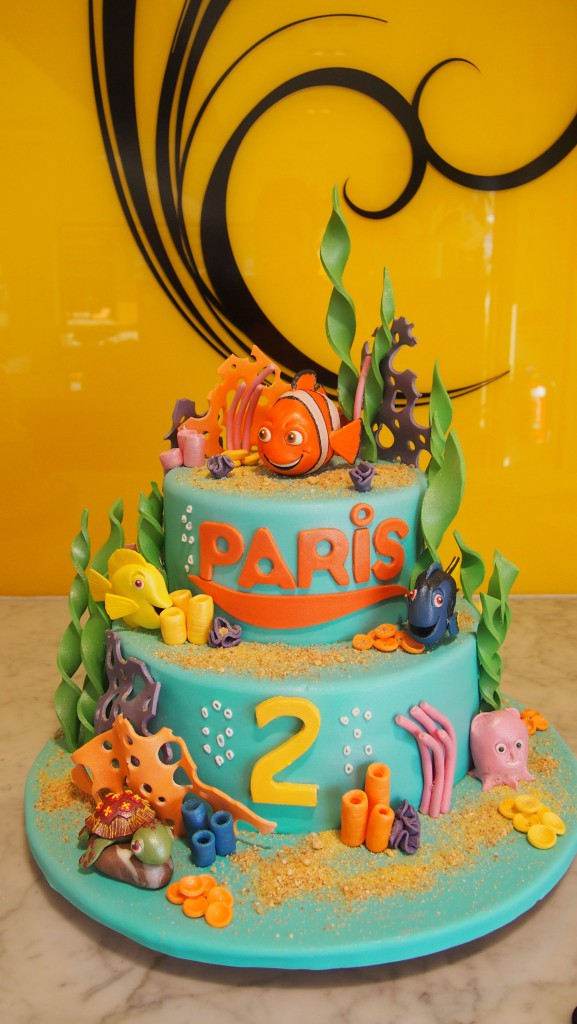 Two Tier Round Birthday Cake Under The Sea Finding Nemo The