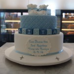 two-tier-round-boy-christening-cake-booties