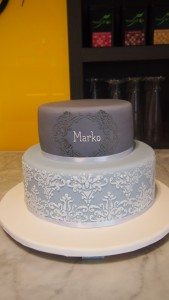 two-tier-round-boy-christening-cake-stencil-blue