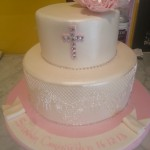 two-tier-round-girl-christening-cake-cross-lace